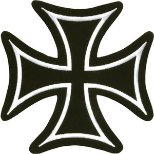 Iron Cross With White Border Patch / SKU USA-PAT-B125-DL