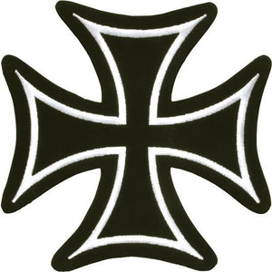 Iron Cross With White Border Patch / SKU USA-PAT-C201-DL
