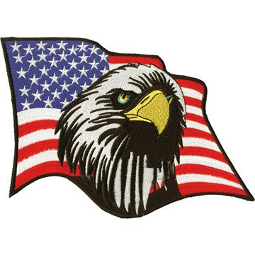 American Flag With An Eagle Head Patch / SKU USA-PAT-C213-DL