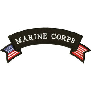 Marine Corp American Flag Banner Patch / SKU USA-PAT-C217-DL