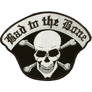 Bad To The Bone Skull Crossbones Patch / SKU USA-PAT-C221-DL