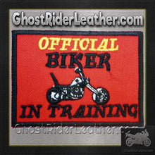 Two Official Biker In Training Patches / SKU GRL-PAT-D610-DL