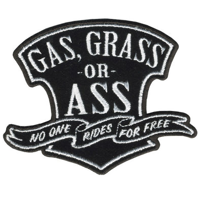 Gas Grass or Ass No One Rides For Free Vest Patch - SKU USA-PPA5780-HI