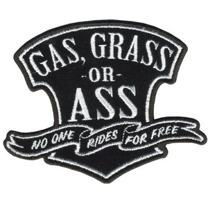 Gas Grass or Ass No One Rides For Free Vest Patch - SKU USA-PPA5780-HI - USA Biker Leather