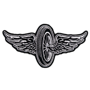 Flying Wheel Motorcycle Vest Patch - SKU USA-PPA7430-HI