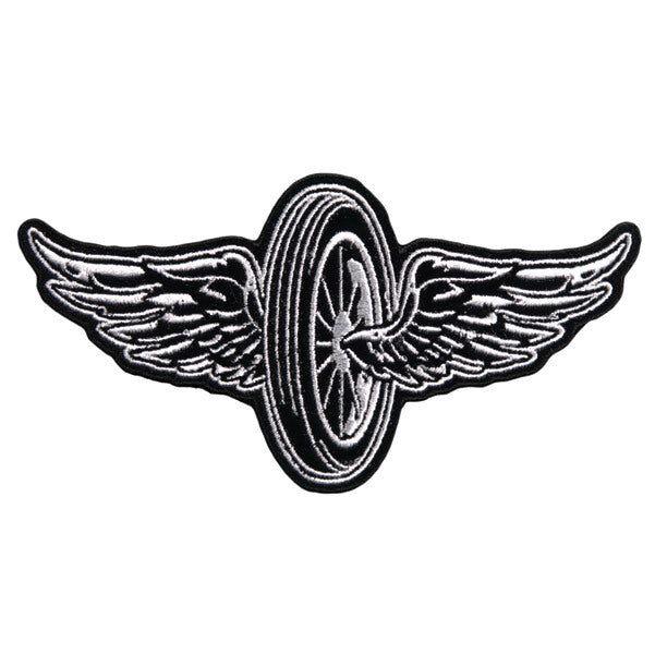 Flying Wheel Motorcycle Vest Patch - SKU USA-PPA7430-HI - USA Biker Leather