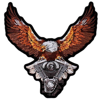 Storm Clouds Eagle with V-Twin Engine Vest Patch - Small - SKU USA-PPA8224-HI