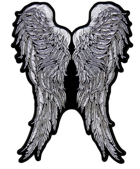 Angel Wings Vest Patch - SKU USA-PPA8273-HI