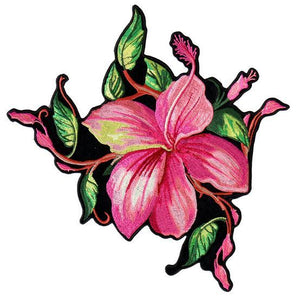 Pink Flower Vest Patch - SKU USA-PPA8290-HI - USA Biker Leather