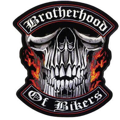 Brotherhood Of Bikers Vest Patch - SKU USA-PPA5110-HI - USA Biker Leather