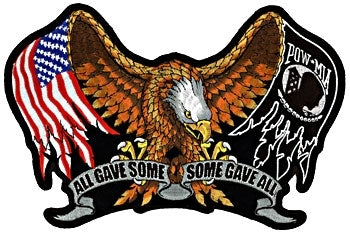 All Gave Some - Some Gave All Patch - Large - SKU USA-PPA1867-HI - USA Biker Leather