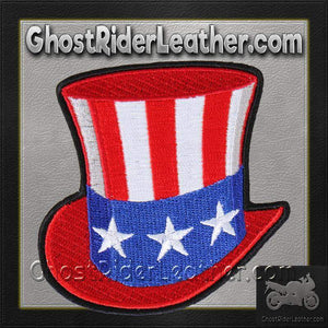 Uncle Sam Hat - American Flag Hat - Patch / SKU GRL-PAT-UNCLESAMHAT-HI - USA Biker Leather