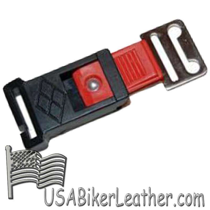 Helmet Quick Release With Lifetime Guarantee From Manufacturer - SKU USA-QR-HI - USA Biker Leather
