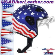 America DOT Motorcycle Helmet with Flip Shield / SKU USA-RK5A-HI - USA Biker Leather - 2