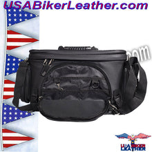 Motorcycle Sissy Bar Bag / SKU USA-SB13-DL - USA Biker Leather - 3