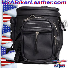 Motorcycle Sissy Bar Bag / SKU USA-SB13-DL - USA Biker Leather - 2
