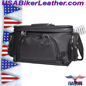 Motorcycle Sissy Bar Bag / SKU USA-SB13-DL - USA Biker Leather - 1