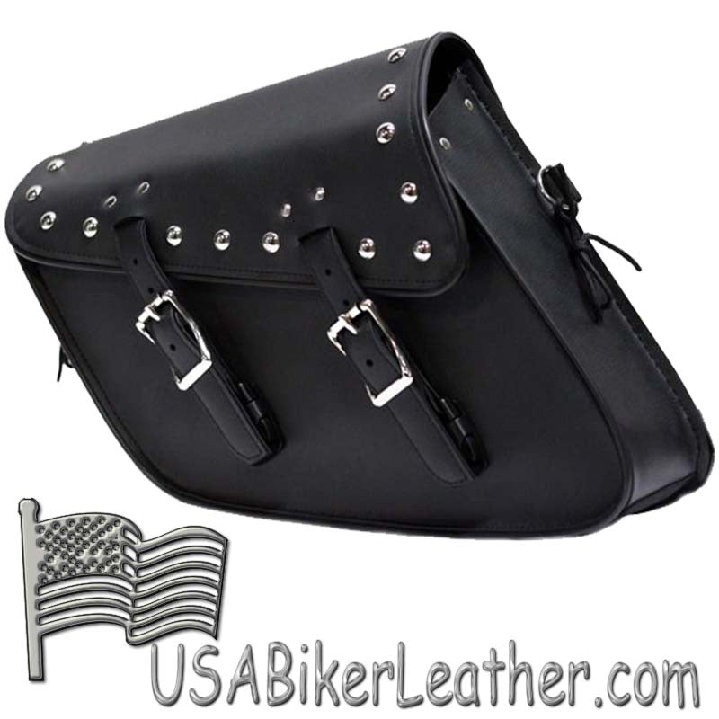 PVC Motorcycle Solo Swing Arm Bag with Studs - SKU USA-SD4093-STUD-SOLO-DL