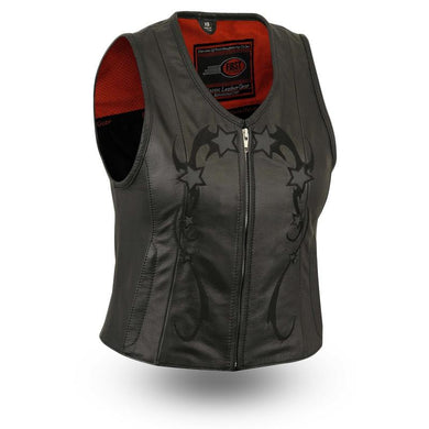Stardom - Women's Leather Motorcycle Vest - USA Biker Leather