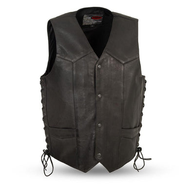 Rancher - Men's Western Vest - USA Biker Leather