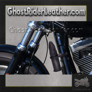 Motorcycle Bullet Storage Tube / Choice of Colors / SKU GRL-BKBLTST-2-3-BN