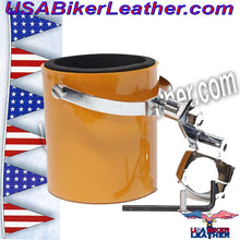 Motorcycle Cup Holders / Choice of Colors / SKU USA-CUP4-DL - USA Biker Leather - 2