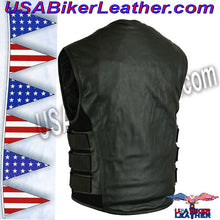 Mens Updated SWAT Team Style Vest / SKU USA-DS007-DS - USA Biker Leather - 2