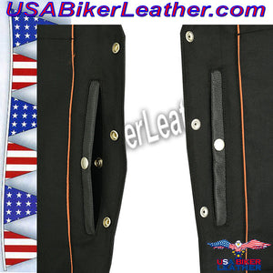 Mens Updated SWAT Team Style Vest / SKU USA-DS007-DS - USA Biker Leather - 3