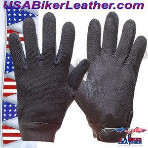 Black Mechanics Gloves / SKU USA-GLZ50-DL - USA Biker Leather