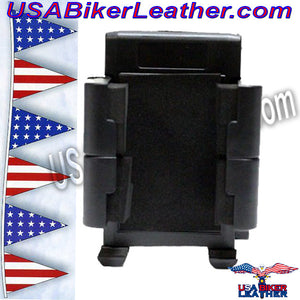 GPS and E-ZPass Holder or Phone Holder for Motorcycles / SKU USA-GPS1-DL - USA Biker Leather - 3