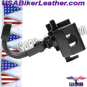 GPS and E-ZPass Holder or Phone Holder for Motorcycles / SKU USA-GPS1-DL - USA Biker Leather - 2