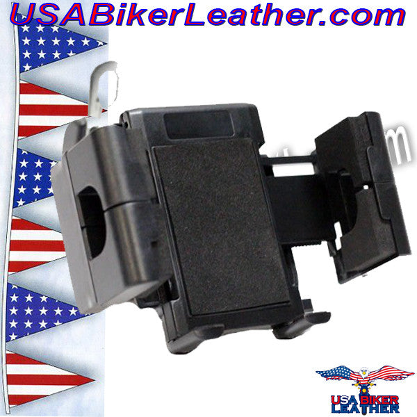 GPS and E-ZPass Holder or Phone Holder for Motorcycles / SKU USA-GPS1-DL - USA Biker Leather - 4