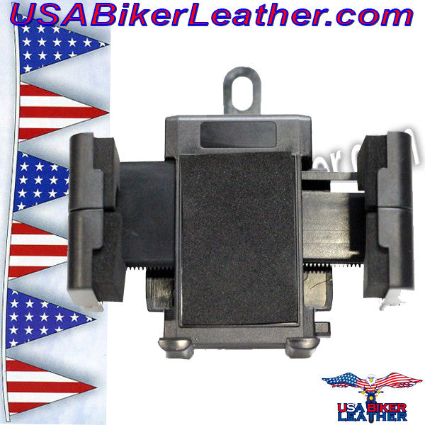 GPS and E-ZPass Holder or Phone Holder for Motorcycles / SKU USA-GPS1-DL - USA Biker Leather - 1