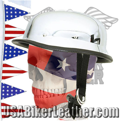 Chrome German Novelty Motorcycle Helmet / SKU USA-HC102-DL - USA Biker Leather