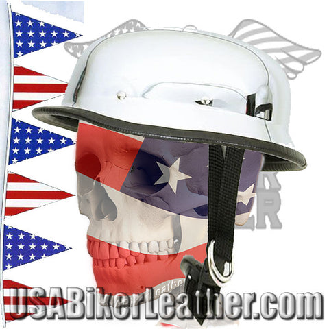 Chrome German Novelty Motorcycle Helmet / SKU USA-HC102-DL