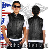 Kids Motorcycle Leather Club Vest / SKU USA-KD320-DL - USA Biker Leather - 2