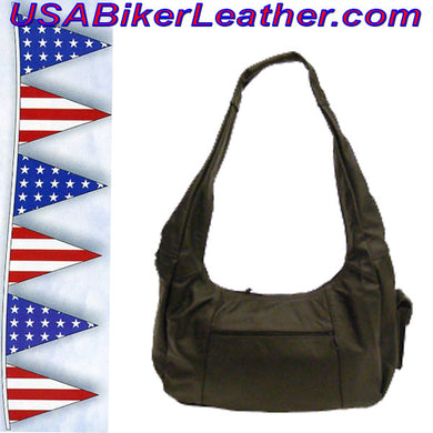 Concealed Carry Gun Purse / SKU USA-M12-BL - USA Biker Leather