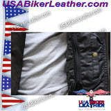 Mens Braided Pistol Pete Leather Jacket / SKU USA-MJ708-DL - USA Biker Leather - 4