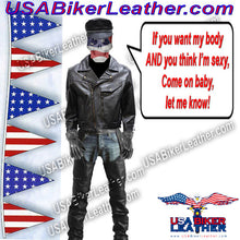 Mens Braided Pistol Pete Leather Jacket / SKU USA-MJ708-DL - USA Biker Leather - 1