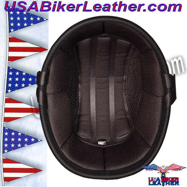 Novelty Patriot Skull Motorcycle Helmet / SKU USA-6002P-DH - USA Biker Leather - 5