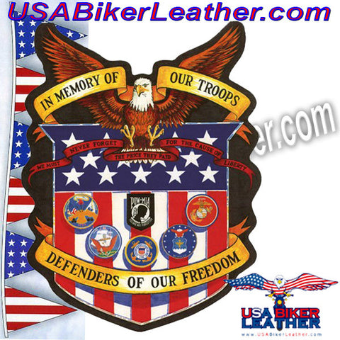 In Memory of Our Troops Patch / SKU USA-PAT-A43-DL