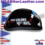 Novelty Patriot Skull Motorcycle Helmet / SKU USA-6002P-DH - USA Biker Leather - 2