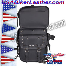 Large Sissybar Bag with Studs / SKU USA-SB3-DL - USA Biker Leather - 4