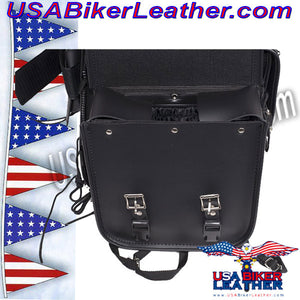 Large Sissybar Bag with Studs / SKU USA-SB3-DL - USA Biker Leather - 5