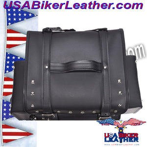 Large Sissybar Bag with Studs / SKU USA-SB3-DL - USA Biker Leather - 3