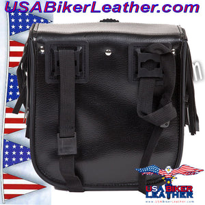 Motorcycle Sissybar Bag with Fringe / SKU USA-SB5004-DL - USA Biker Leather - 2