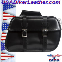 PVC Motorcycle Saddlebags / SKU USA-SD4079PV-DL - USA Biker Leather - 2