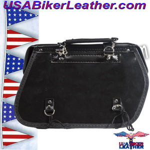PVC Motorcycle Saddlebags / SKU USA-SD4079PV-DL - USA Biker Leather - 5