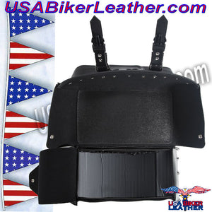PVC Motorcycle Saddlebags / SKU USA-SD4079PV-DL - USA Biker Leather - 4