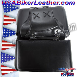PVC Motorcycle Saddlebags / SKU USA-SD4079PV-DL - USA Biker Leather - 3